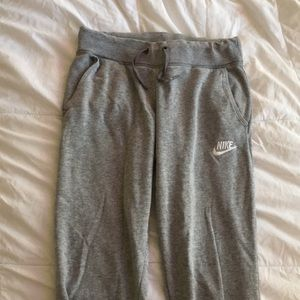 Gray Nike Youth Sweatpants